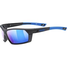 UVEX sportstyle 225 Pola Gafas deportivas, black blue/mirror blue